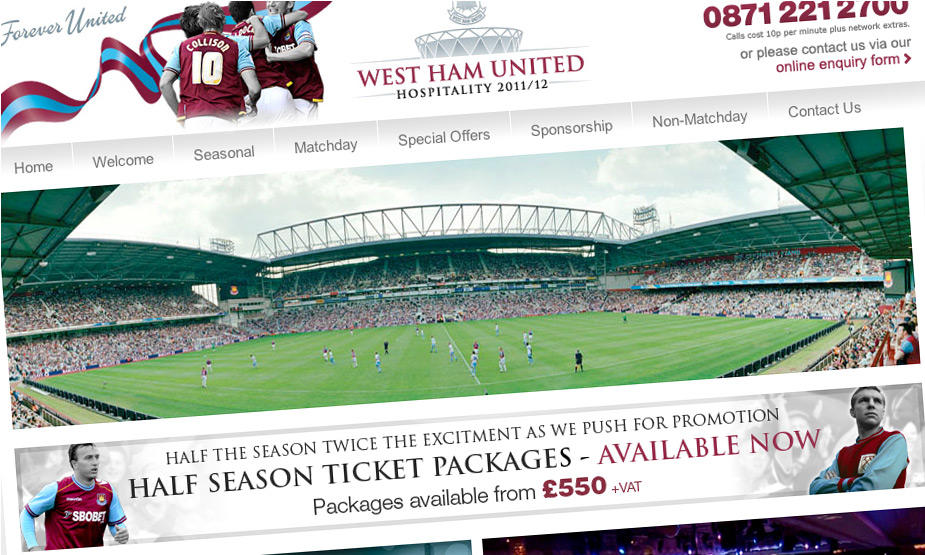 West Ham United Hospitality 2010 - 15